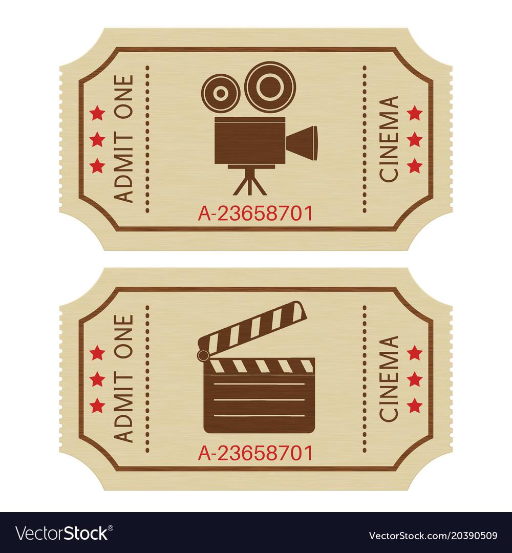 cinema tickets old retro
