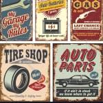 Vintage Car Signs Royalty Free Vector Image Vectorstock