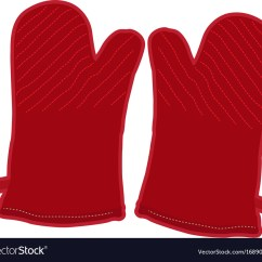 Kitchen Gloves Bath Design Pair Of Royalty Free Vector Image