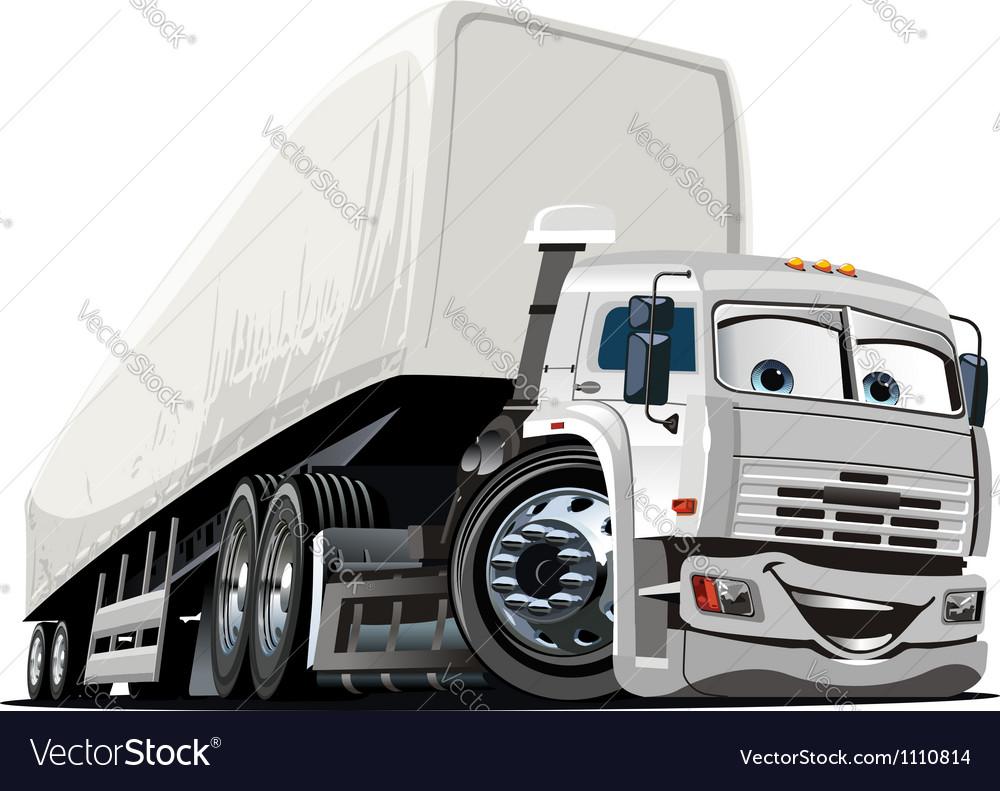 Cartoon Semi Truck Royalty Free Vector Image Vectorstock