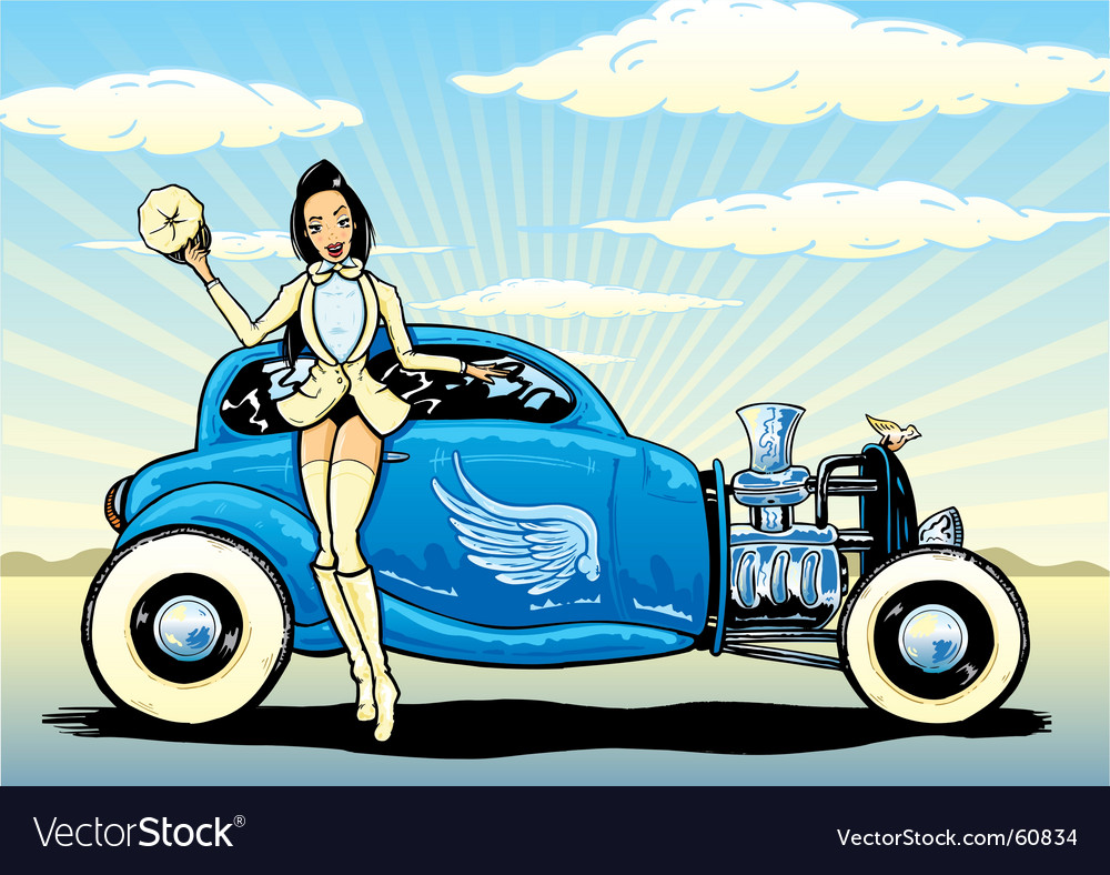 hight resolution of hotrod to heaven vector image