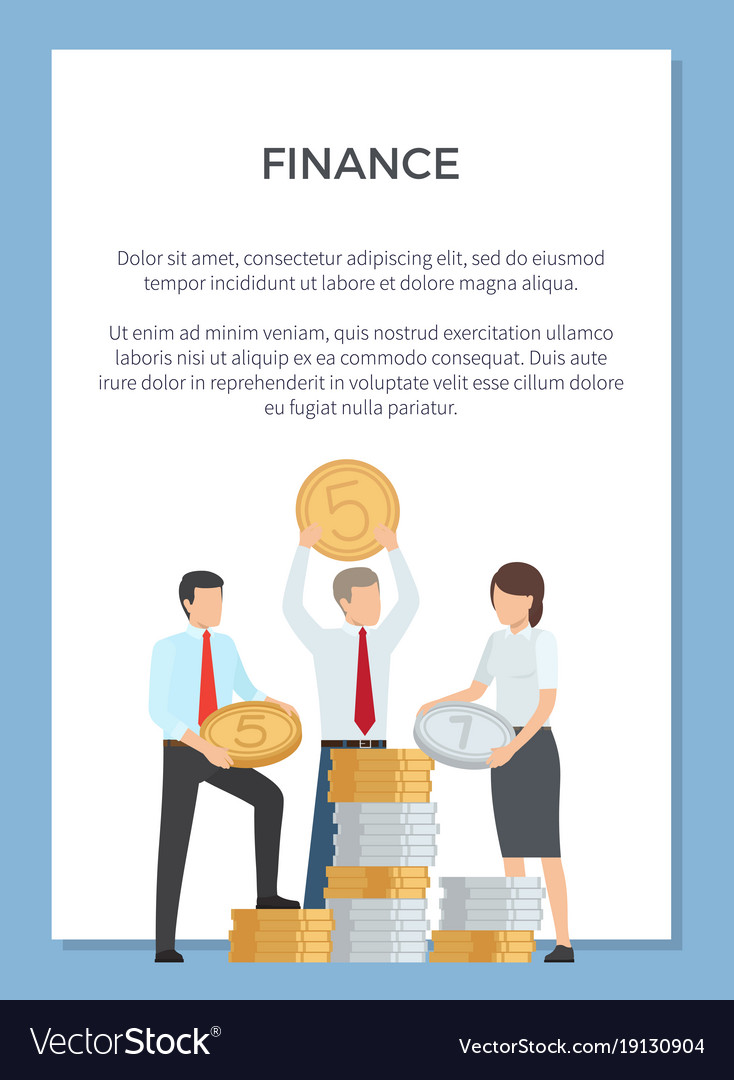 Finance Poster : finance, poster, Finance, Department, Poster, Royalty, Vector, Image