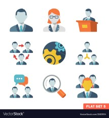 Business People Flat Icons Royalty Free Vector