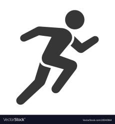 Run icon running man on white background Vector Image