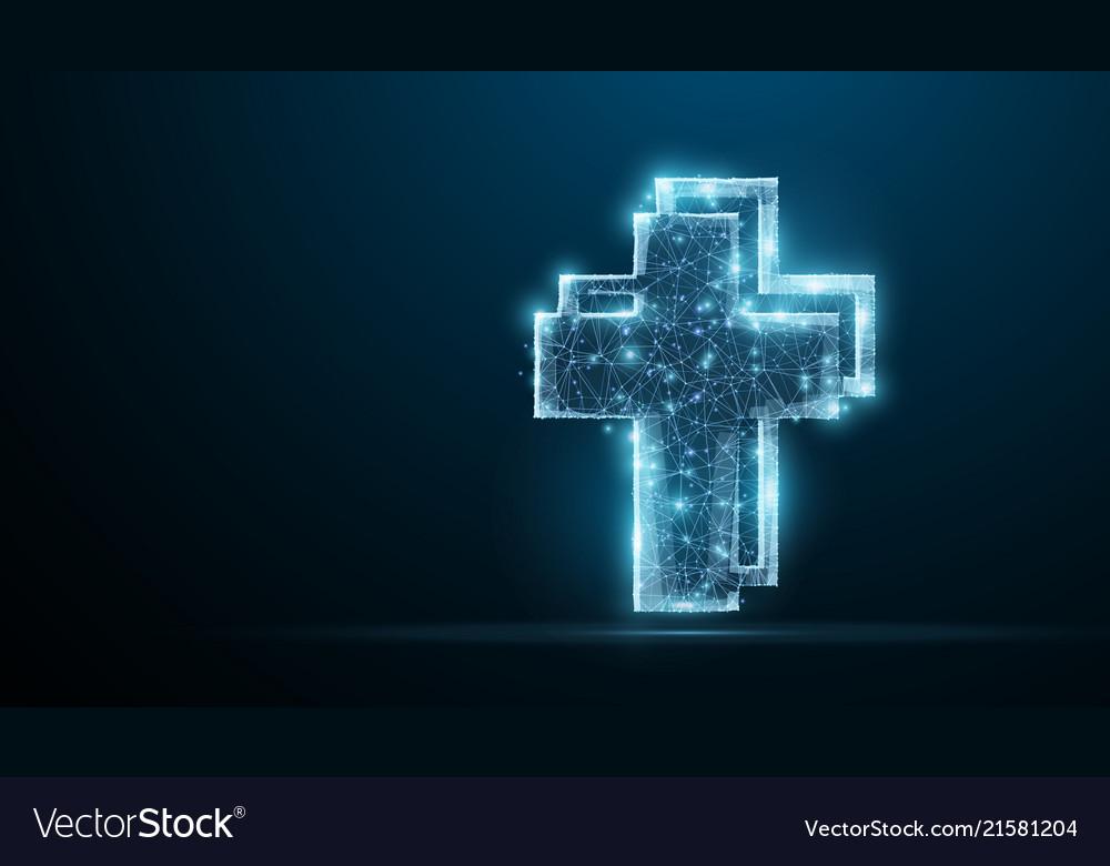 cross polygonal wireframe jesus