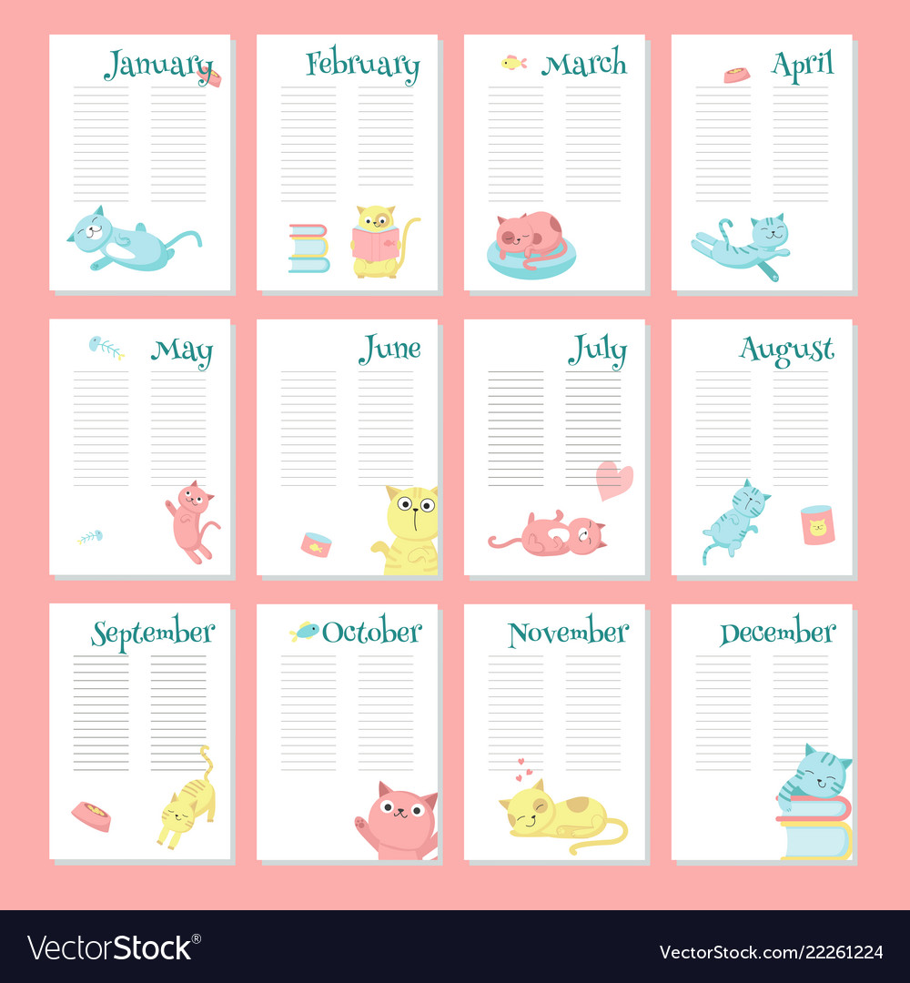 planner calendar template with