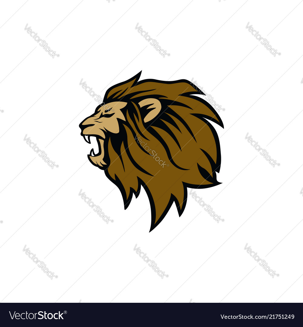 hight resolution of roaring lion clipart