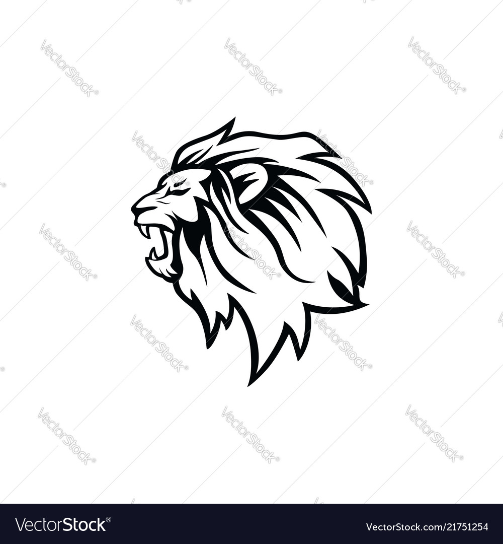 angry roaring black and