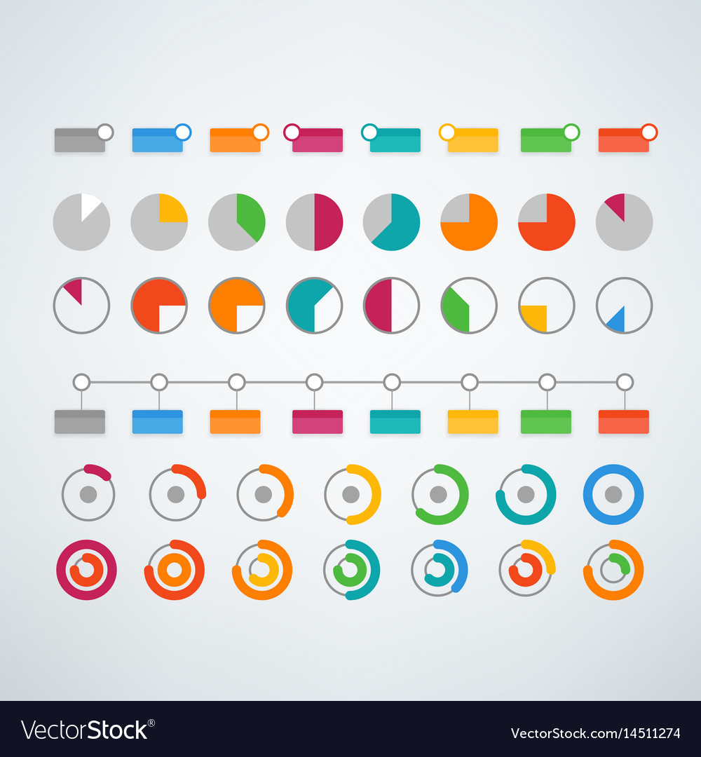different color infographic elements