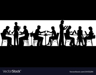 Restaurant silhouette Royalty Free Vector Image