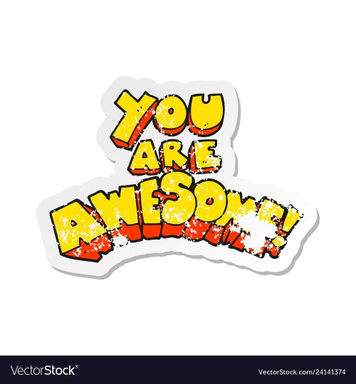 small resolution of you re awesome clipart