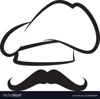 Cap chef hat mustache Royalty Free Vector Image