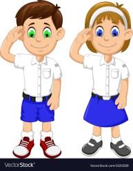 cartoon students respectful cute vector student respect animation boy vectorstock schools thai adobe clip