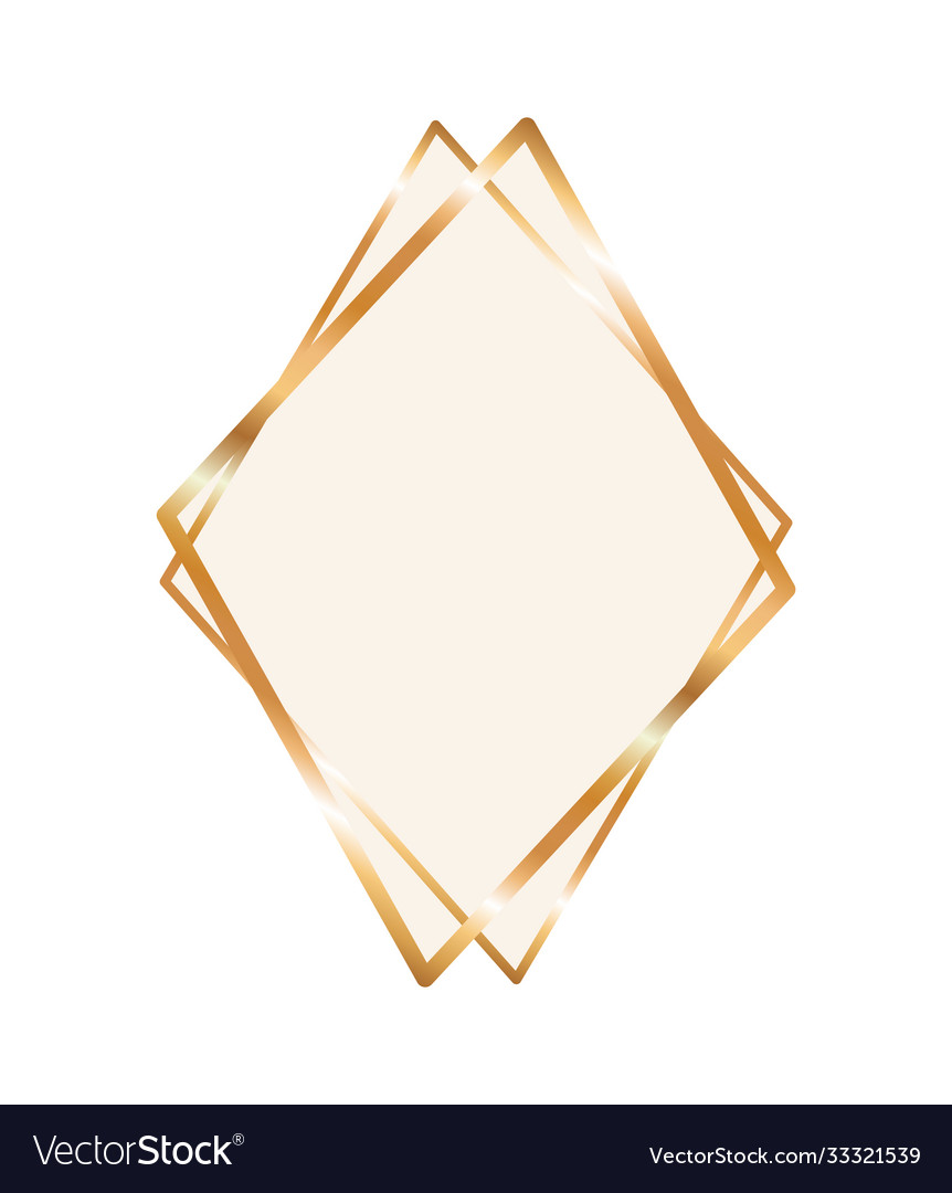 Diamond Shaped Picture Frame : diamond, shaped, picture, frame, Ornament, Frame, Diamond, Shaped, Royalty, Vector