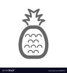 Pineapple outline icon pineapple fruit sign Vector Image