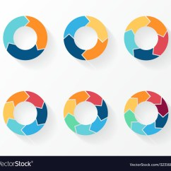 3 Arrow Circle Diagram Trailer Wiring 4 Way Flat 5 6 7 8 Arrows For Infographic Vector Image