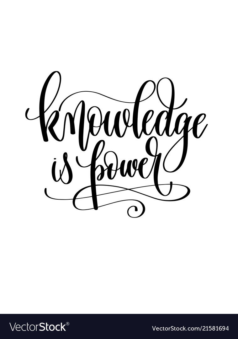 knowledge is power hand