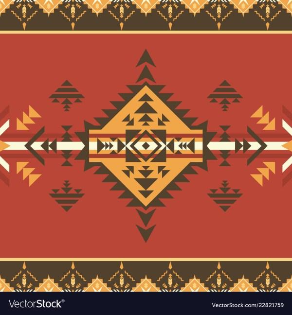 Ethnic Seamless Pattern Aztec Native American Vector