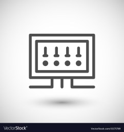 fusebox line icon royalty free vector image vectorstockfusebox line icon vector image [ 1000 x 1080 Pixel ]