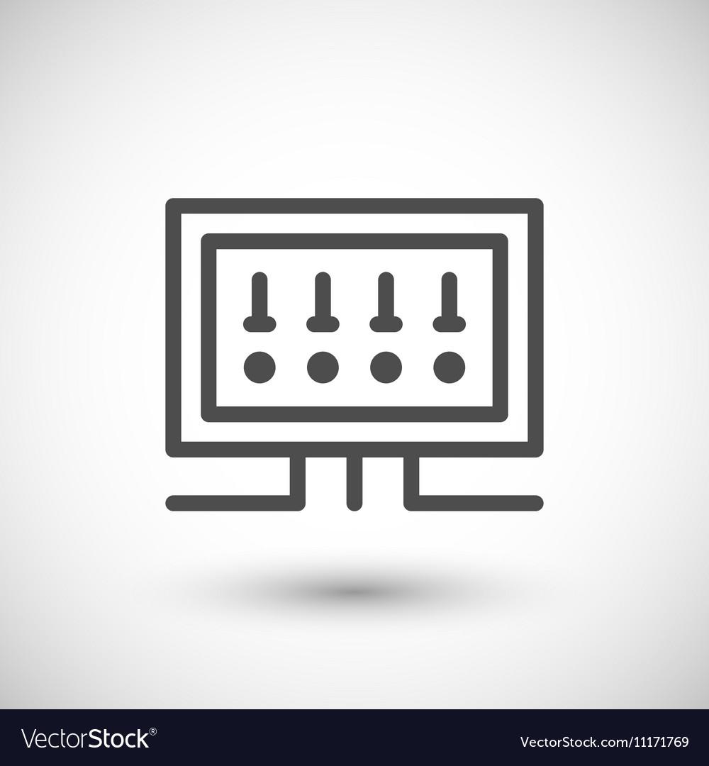 medium resolution of fusebox line icon royalty free vector image vectorstockfusebox line icon vector image