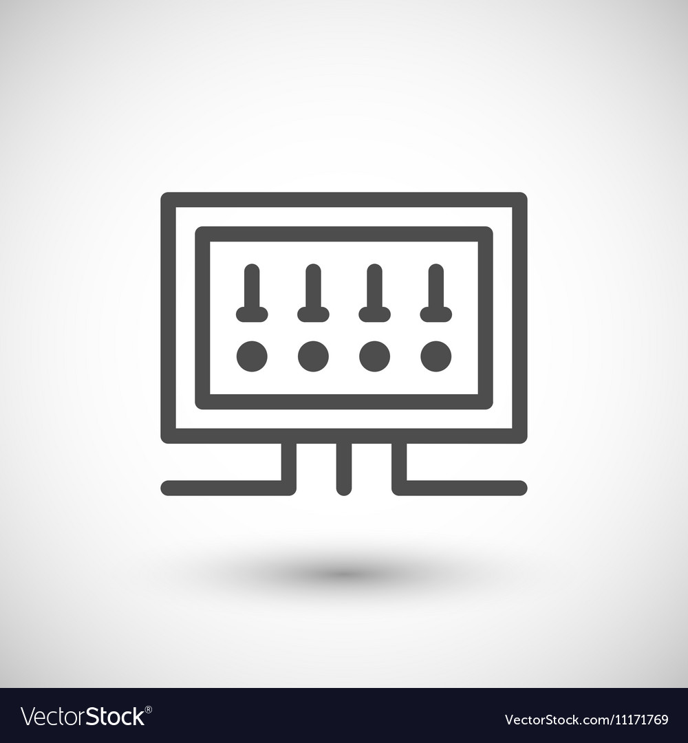 hight resolution of fusebox line icon royalty free vector image vectorstockfusebox line icon vector image