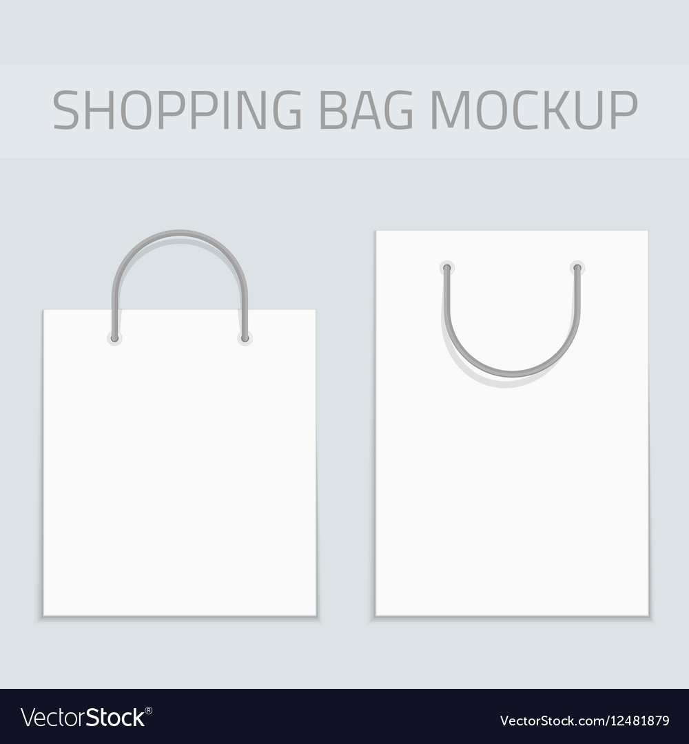 Black and white tote shopping bags free vector. Blank Shopping Bag Mockup Royalty Free Vector Image