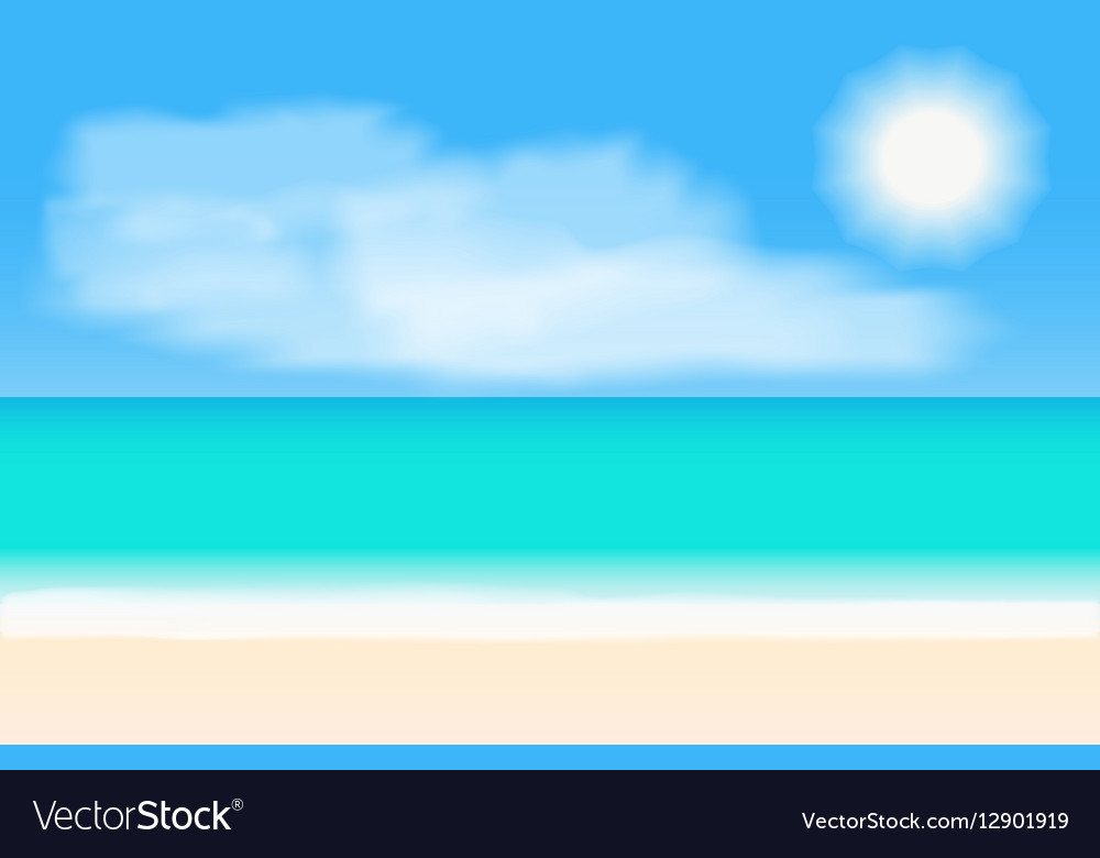 tropical beach panorama background