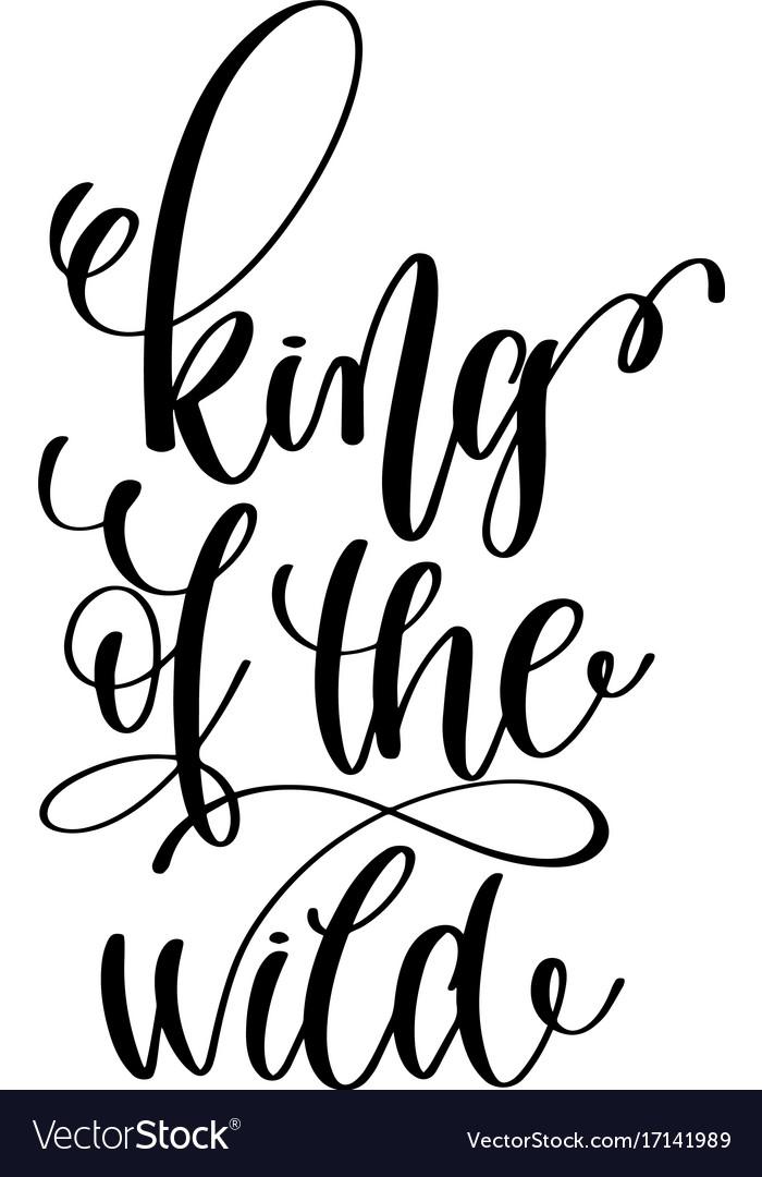 King Lettering : lettering, Black, White, Lettering, Vector, Image