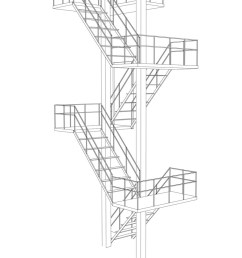stair on white background vector image [ 811 x 1080 Pixel ]