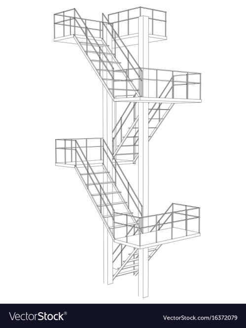 small resolution of stair on white background vector image