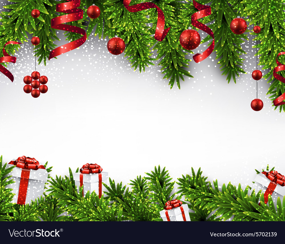 christmas banner with spruce