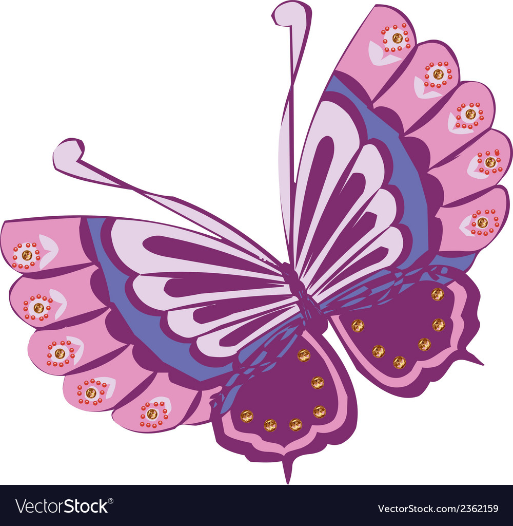 hight resolution of butterfly cartoon clipart design vector image