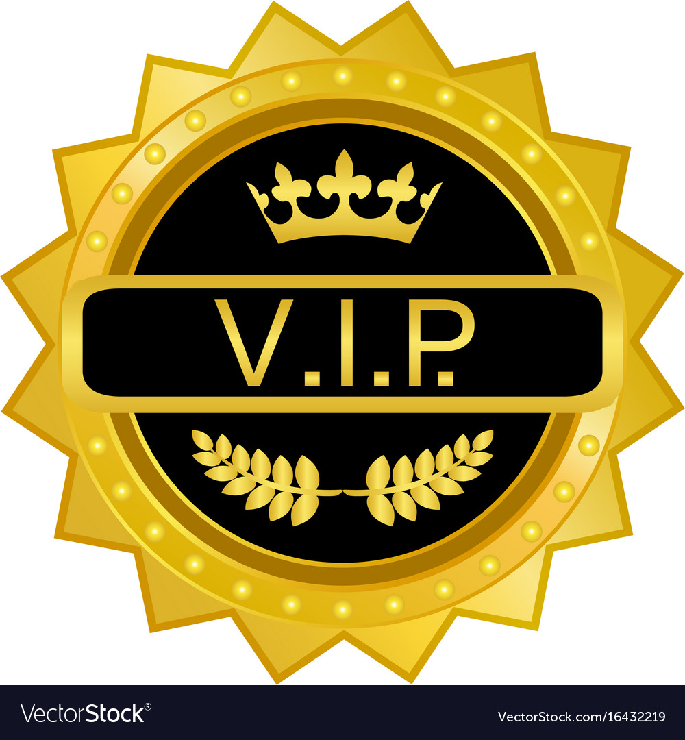 vip gold badge