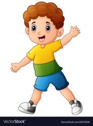 boy cartoon little vector vectorstock boys cartoons imagenes
