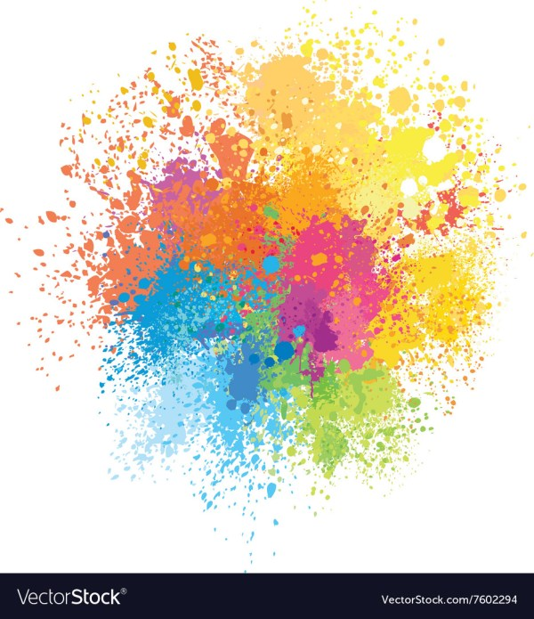 Color Background Of Paint Splashes Royalty Free Vector