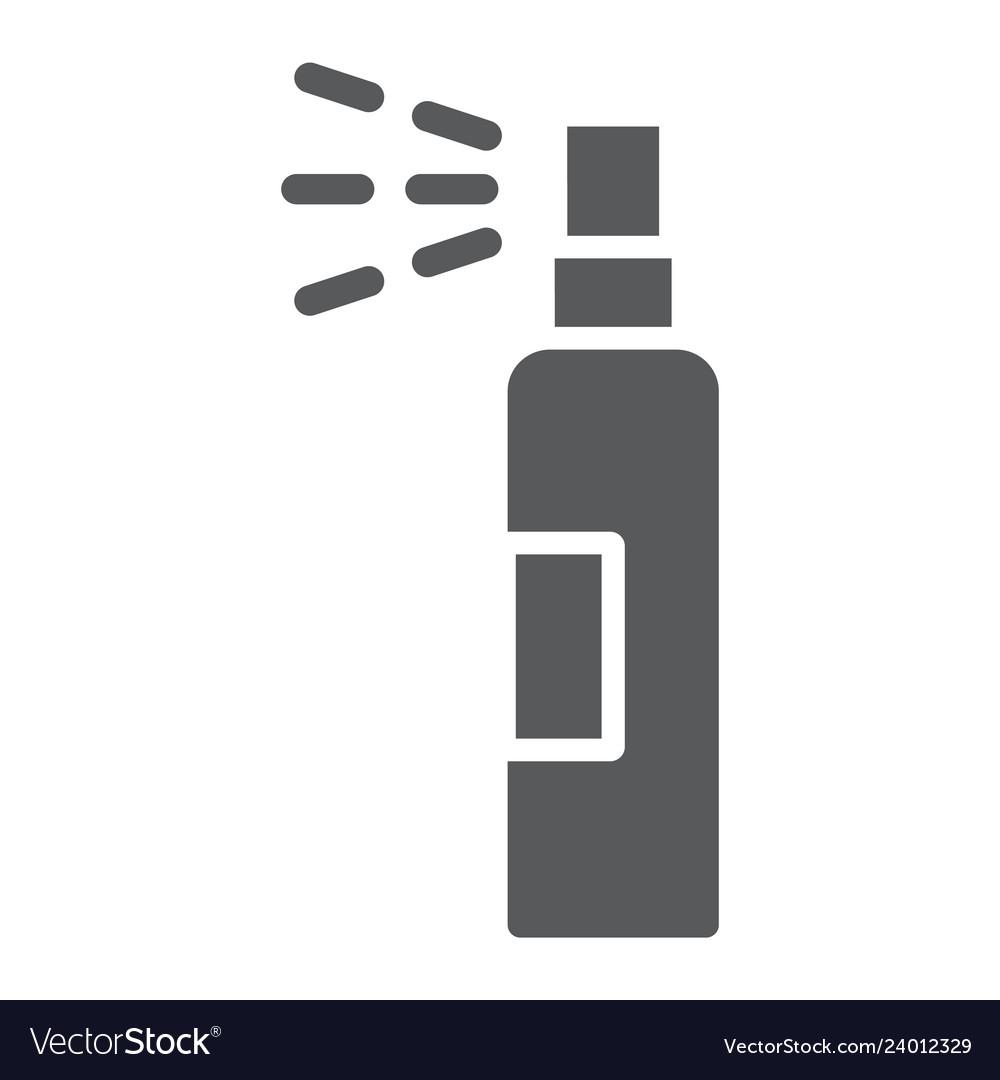lotion spray glyph icon