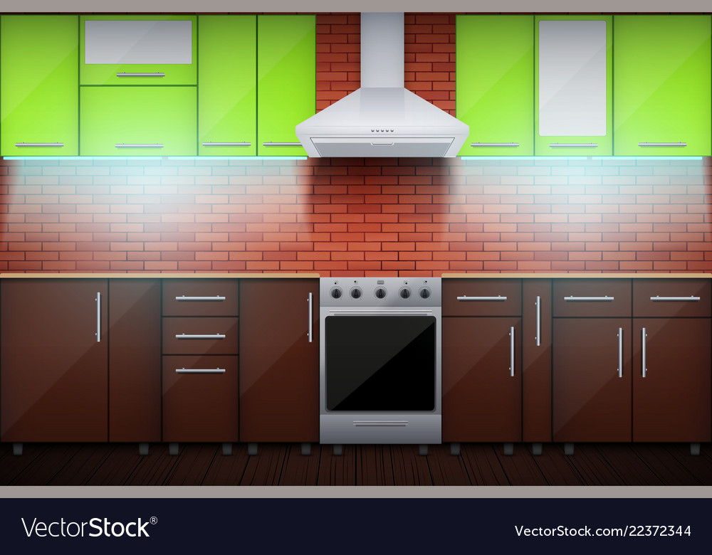 typical modular kitchen with