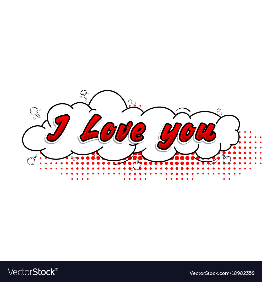 Download Comic collection i love you 3d colored sound chat Vector Image