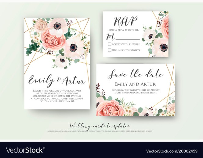 Save The Date Carad Design Vector Image