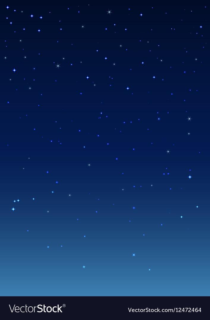 night starry sky vertical