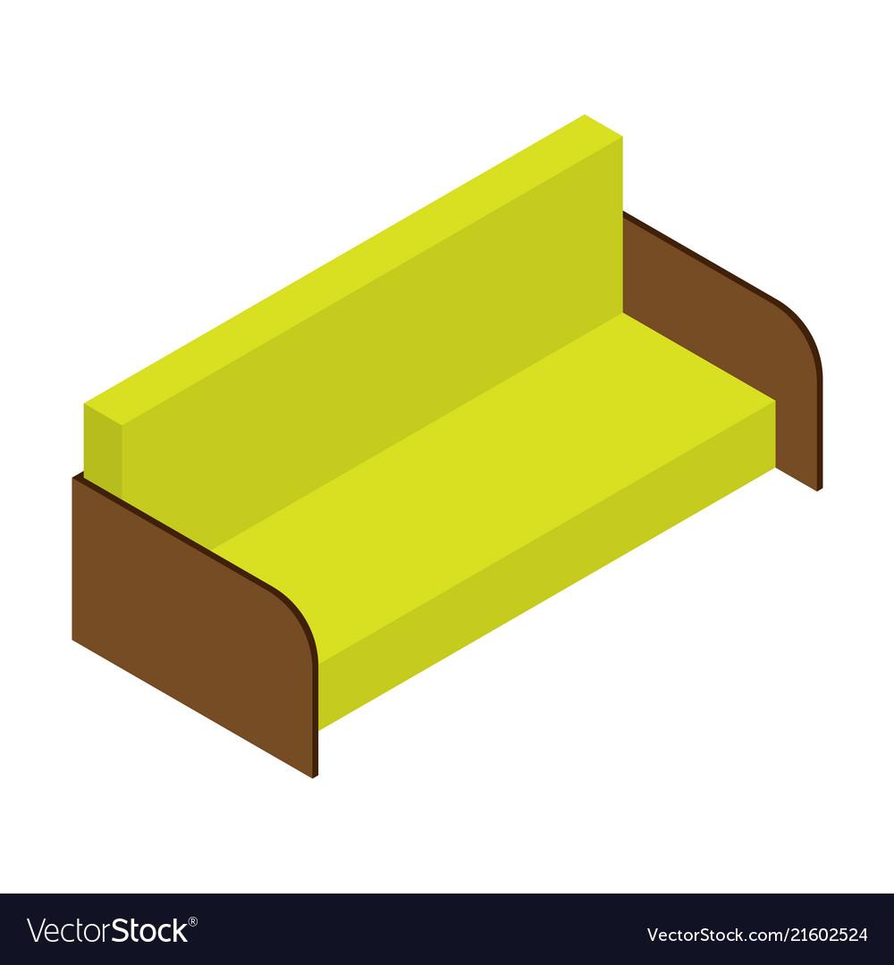 color sofa venetian worldwide mancora microfiber futon bed in espresso camel of lemon isometric royalty free vector image
