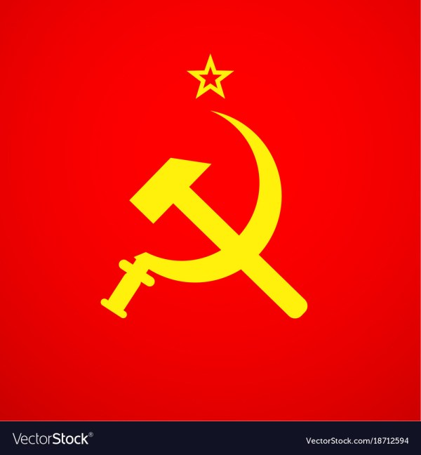 Ussr sickle and hammer soviet russia union symbol Vector Image