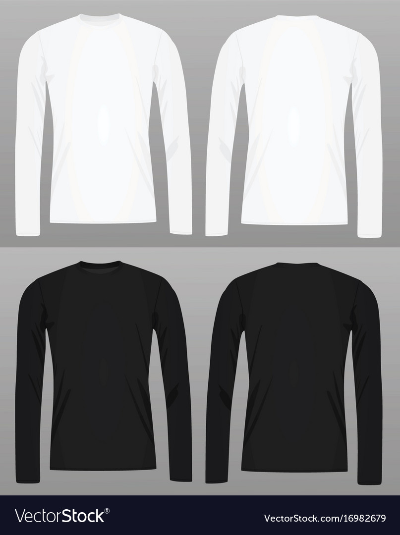 Long Sleeve Shirt Vector : sleeve, shirt, vector, Sleeve, Shirt, Template, Royalty, Vector, Image