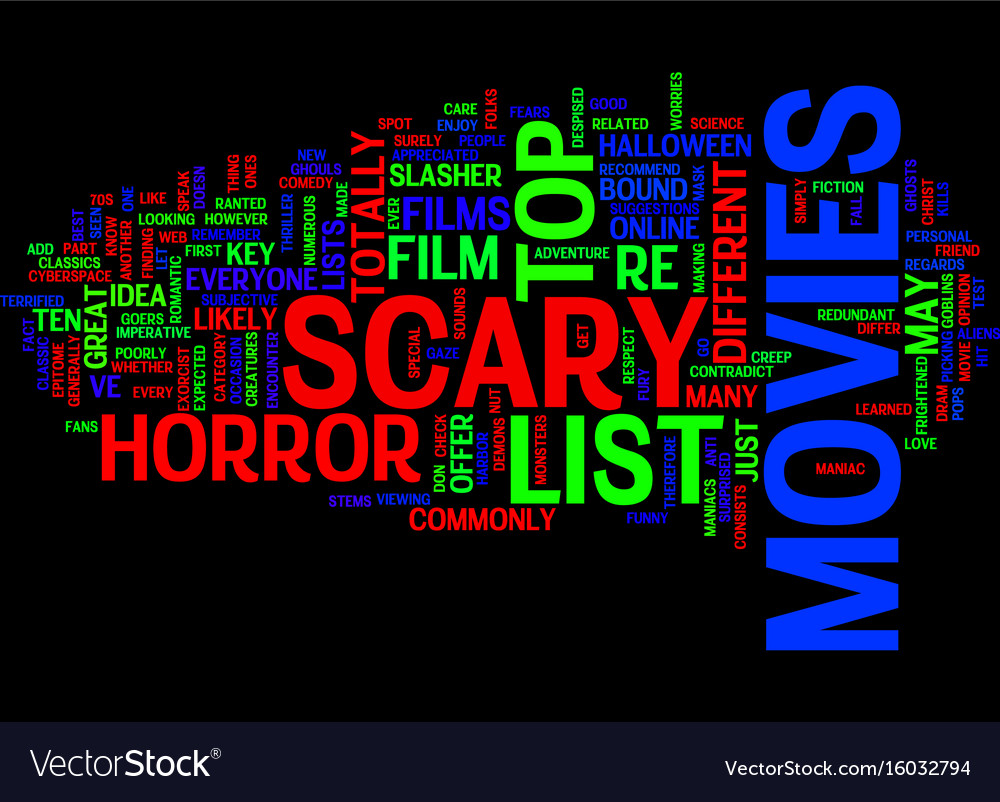 list of scary movies