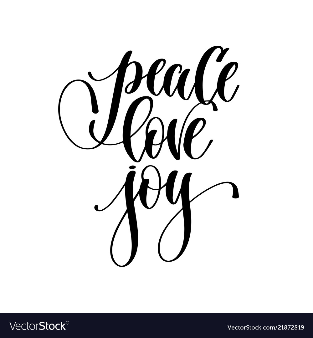 Download Peace love joy - hand lettering inscription text Vector Image
