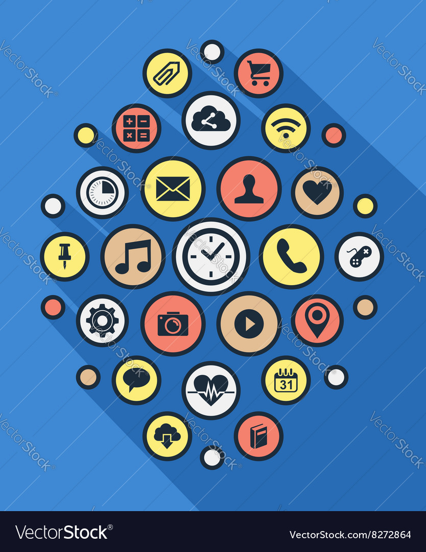 social app icon background