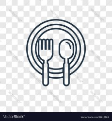 Food concept linear icon isolated on transparent Vector Image