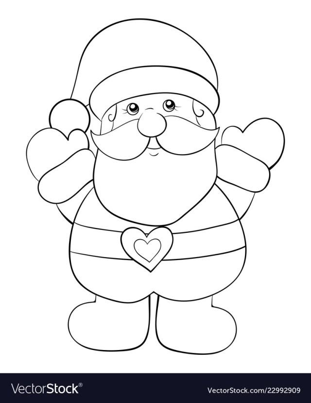 Adult coloring bookpage a santa claus image Vector Image