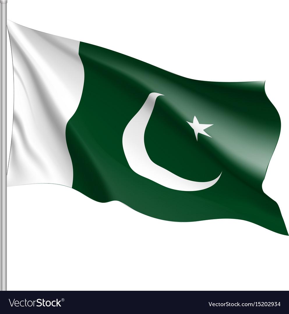 pakistan flag flat style