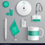 Corporate Identity Design Royalty Free Vector Image